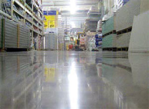 Shiny floor in a retail space