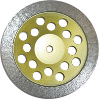 Yellow disk with continuous grinding edge