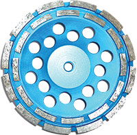 Light blue disk with two rows of grinders