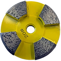 Yellow 20 grit disk