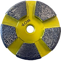 Yellow 40 grit disk