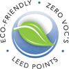 Eco friendly zero VOCs Leed points graphic